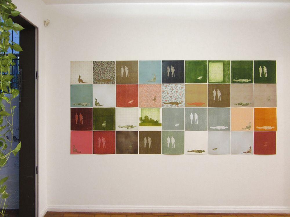 série aberta - xilogravura, chine-collé e fotogravura sobre papéis diversos - 30x30cm (cada gravura) 2013/2014