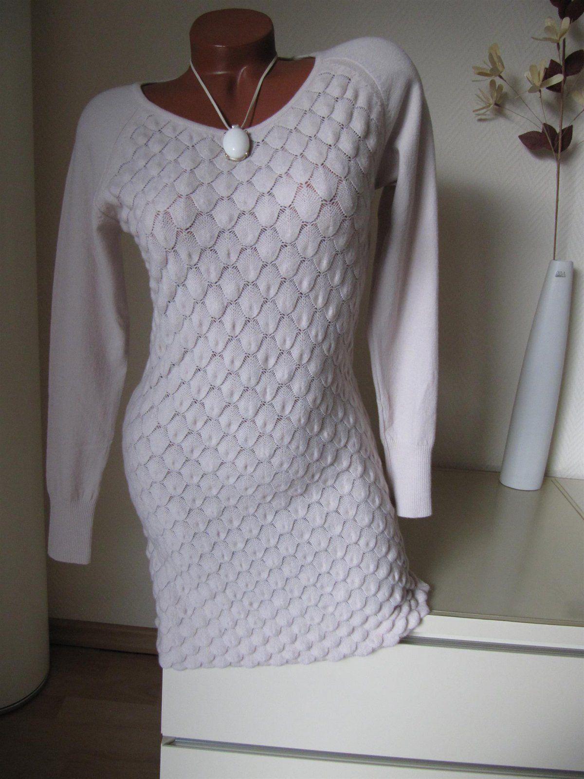 Strick Kleid Long Pullover Pulli Tunika Schuppen Muster... | AKB ...