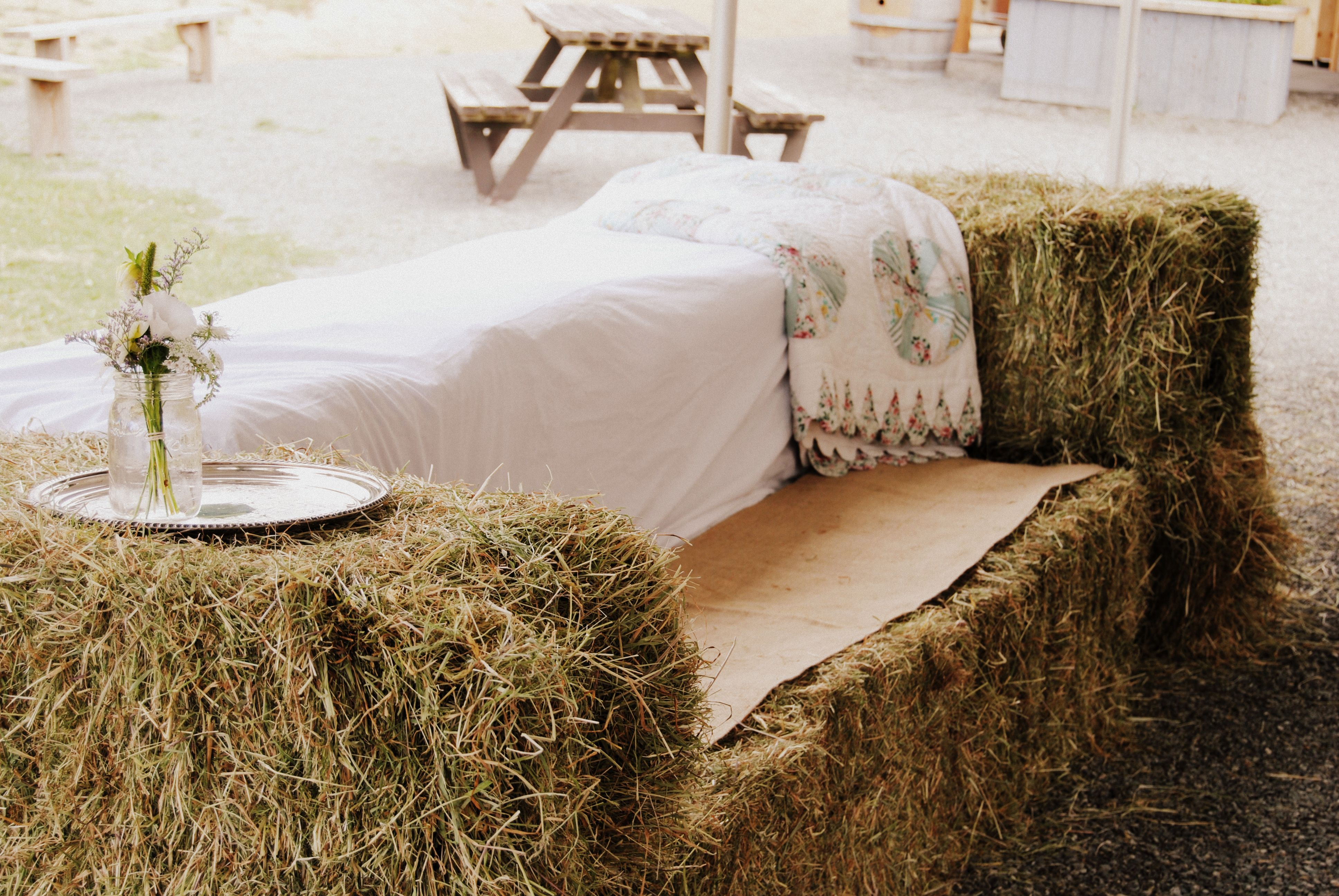 Hay Bale Furniture :) by Blue Lily Event Planning at Bird\'s Eye Cove ...