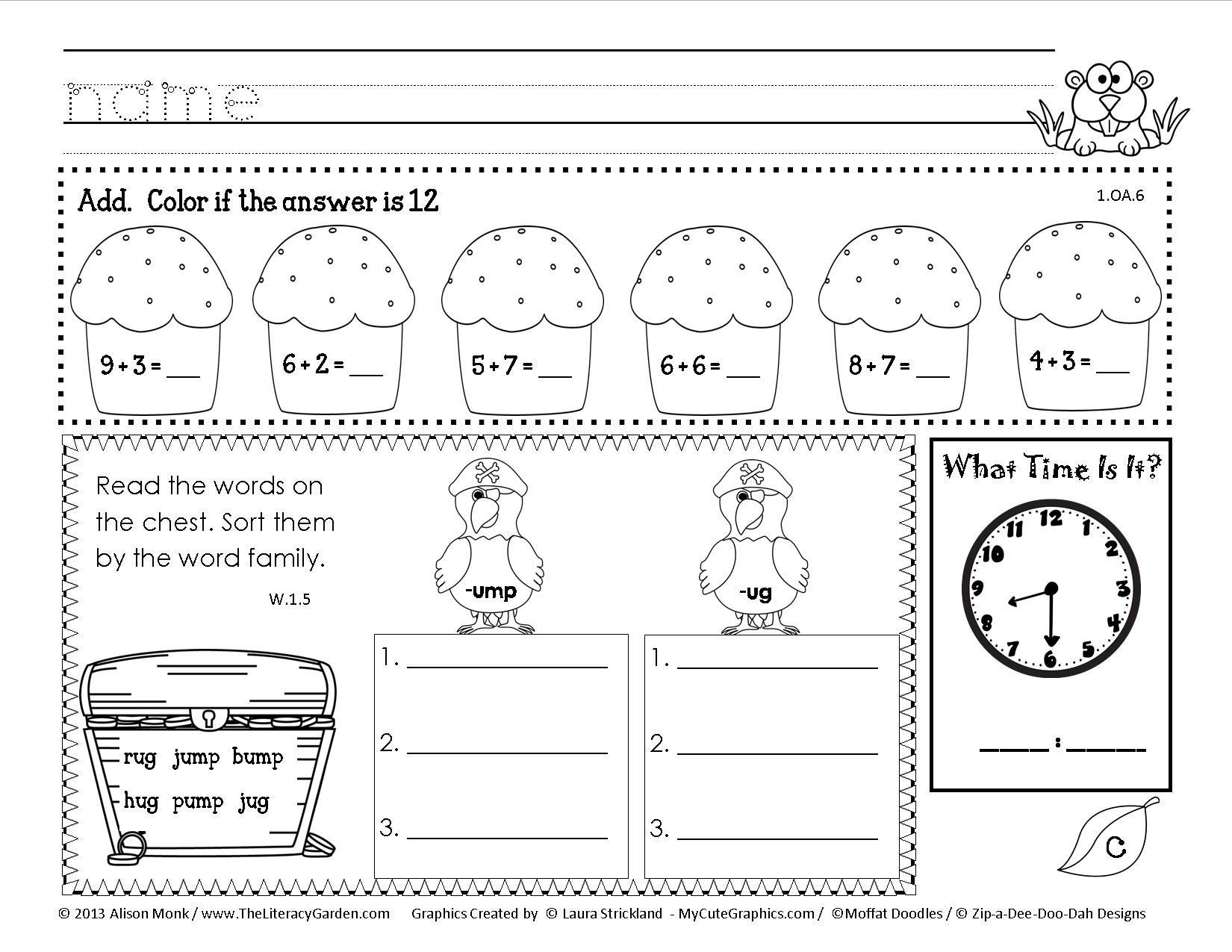 Array Worksheets For 2nd Graders Garden Arrays Math