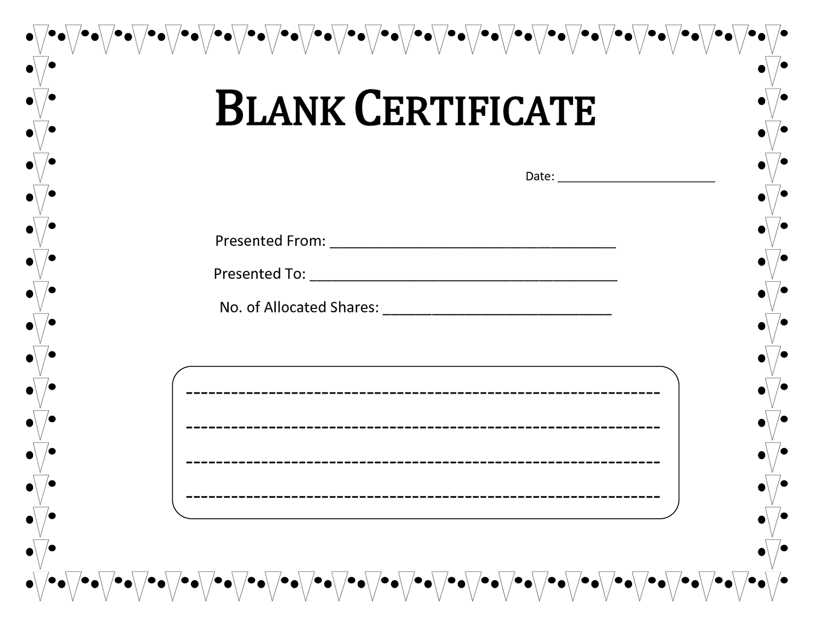 Blank Certificate Templates to Print Activity Shelter – Official Certificate Template