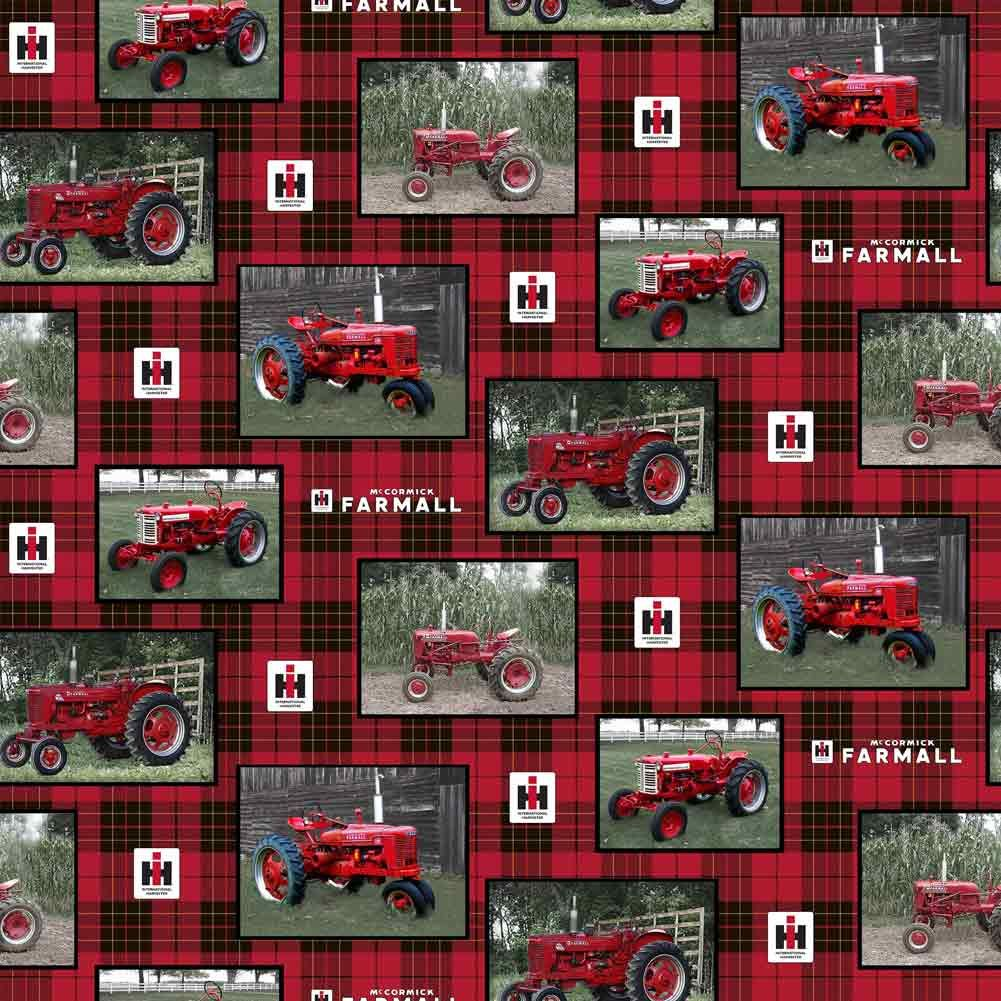 Ih Farmall Tractor Patch Cotton Fabric Sold By The Yard Tractor