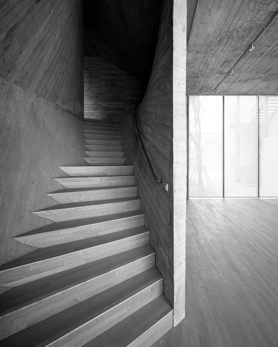 Fu Space On The West Bund By Archi Union Architects Architect Conceptual Model Architecture Concrete Staircase
