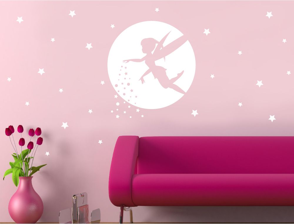 Fairy wall sticker silhouette   Wall stickers toddler ...