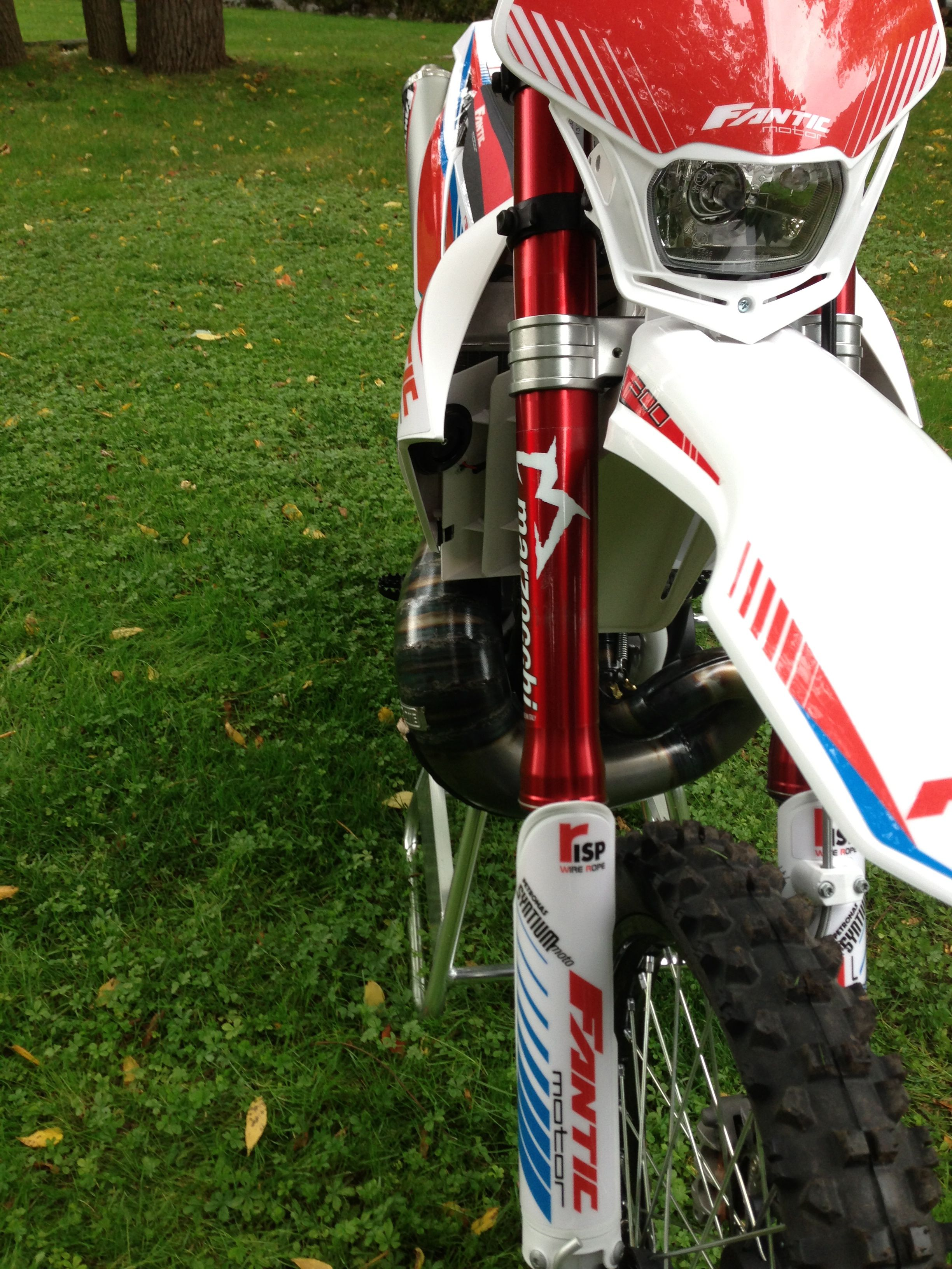Fantic motorcycle 300 cc 2 stroke anodized forks with