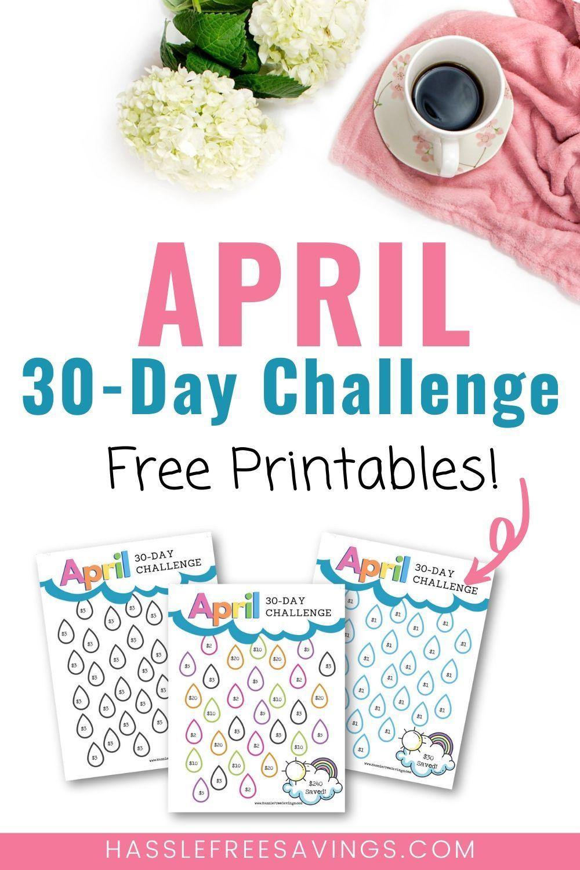 April 30day money saving challenge free printables in