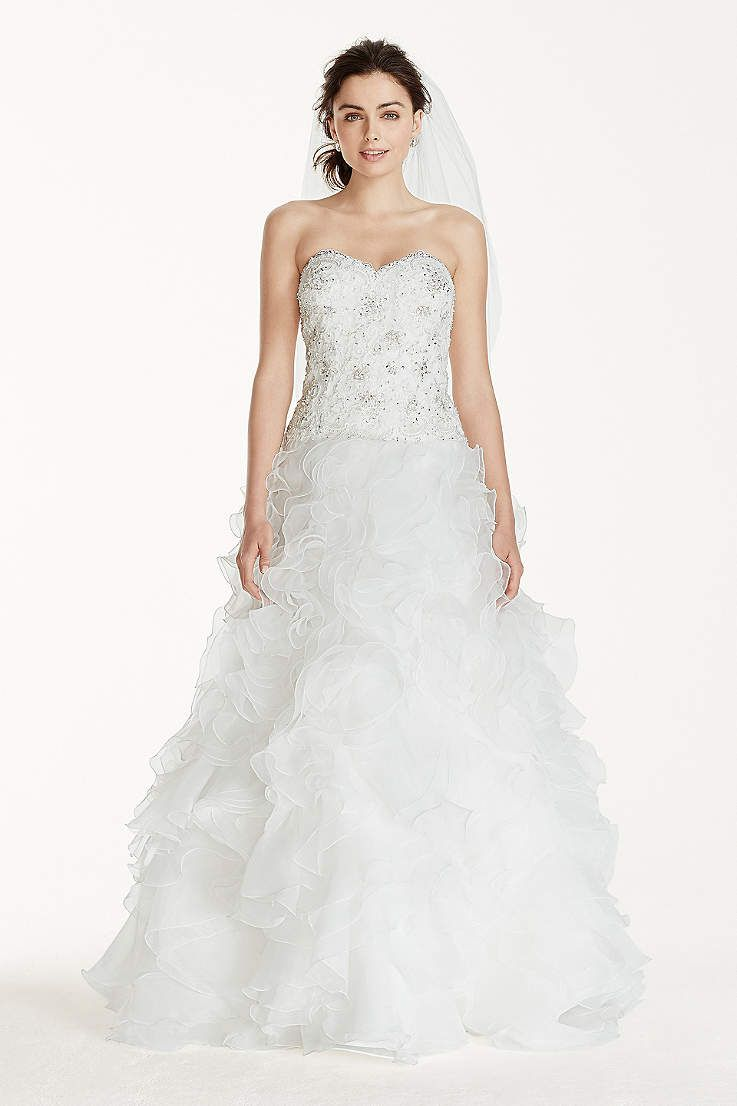 View strapless long wedding dress at davidus bridal vanessaus
