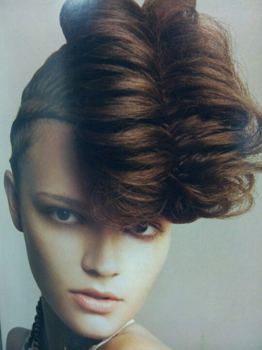 Avant-garde braided updo great new take on a pomp using an ...
