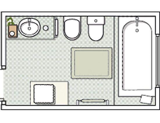 Opción A: detalles y plano   Planos de baños, Planos, Baños