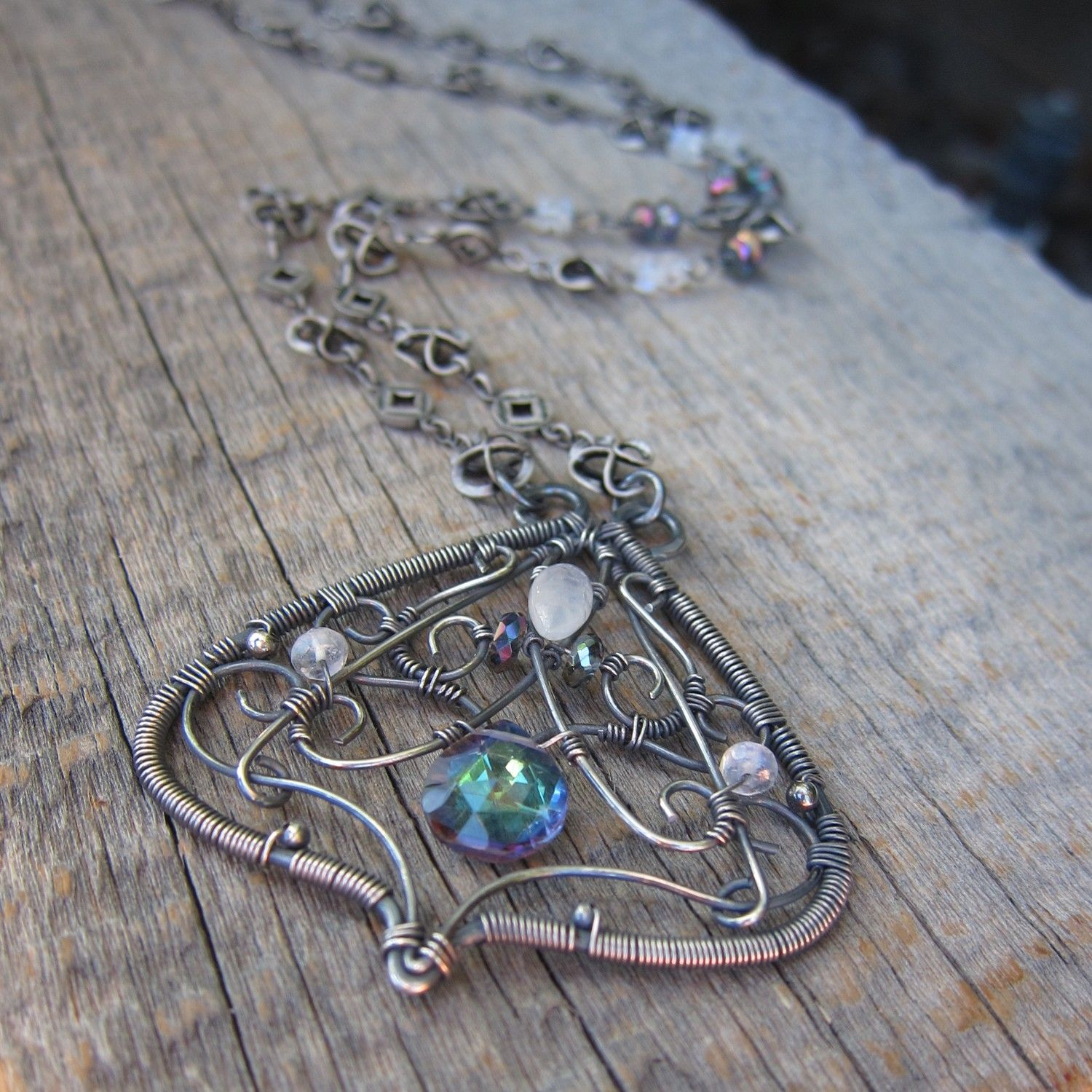 Queen Titania ... Luxe Wire Wrapped Necklace | Wire wrapped necklace ...