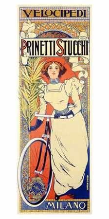 prinetti stucchi vintage bike poster