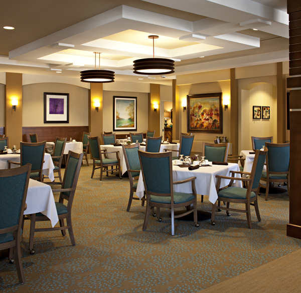 Home Design Ideas For Seniors: The Dining Room At Maison Senior Living