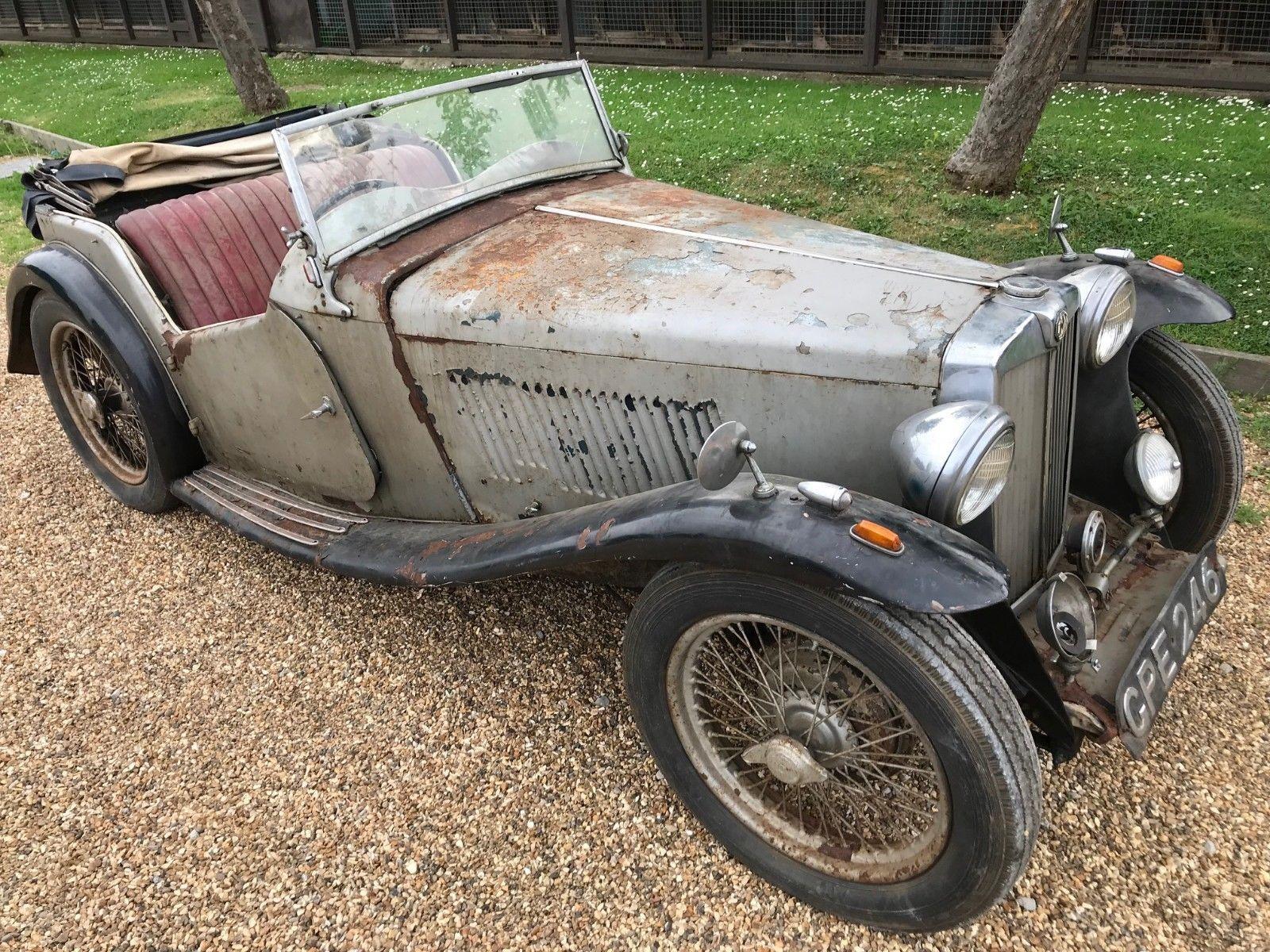 Ebay 1937 Mg Ta Clic Car Superb Original Example For Restoration Pre1960s Cars