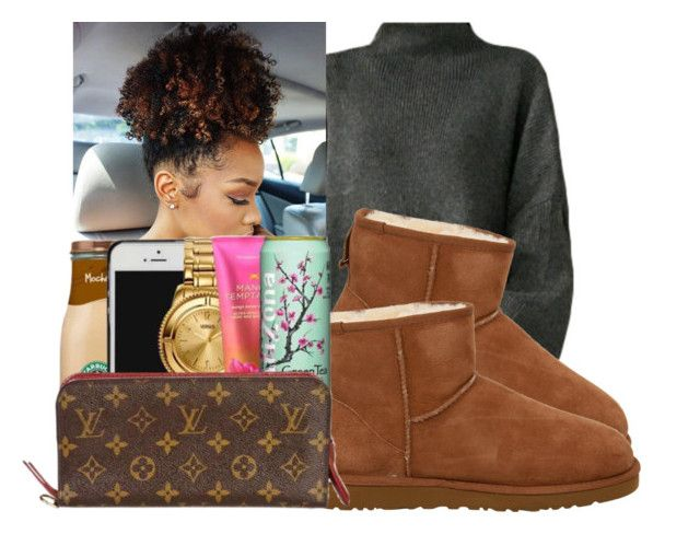 """""""B*itch say i'm conceited."""" by royaltyvoka on Polyvore featuring polyvore fashion style UGG Australia clothing"""