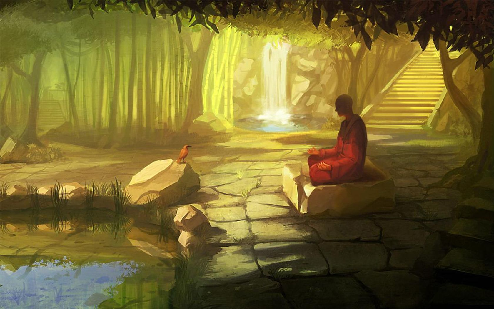 Hd wallpaper zen - Zen Monk Fresh Hd Wallpaper