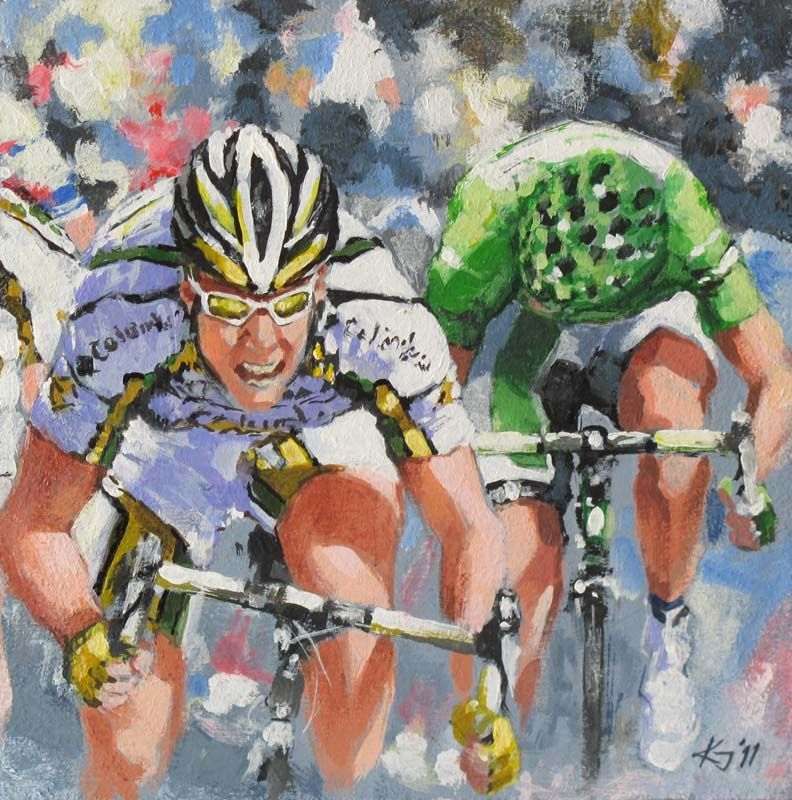 Painting The Peloton - Tour de France