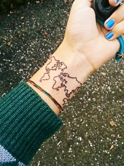 World map outline tattoos pinterest outlines tattoo and tatting world map outline gumiabroncs Gallery