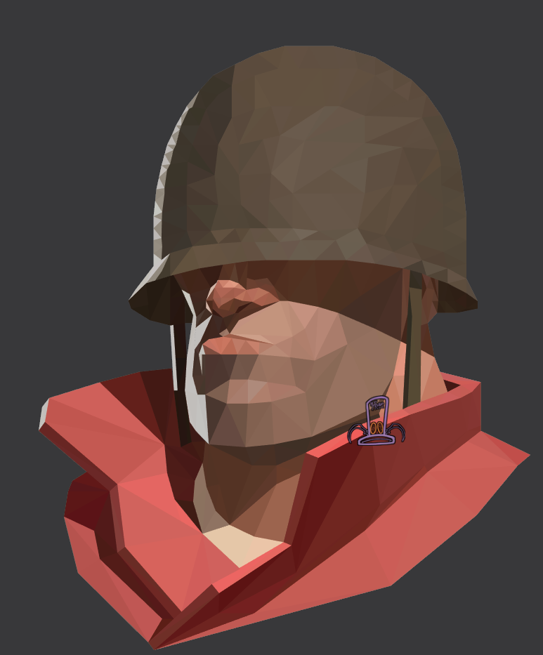 Mrkenen Polygon Portrait Of The Soldier I Did For Illustrator Class Forgot To Upload This W Team Fortress 2 Team Fortress Soldier