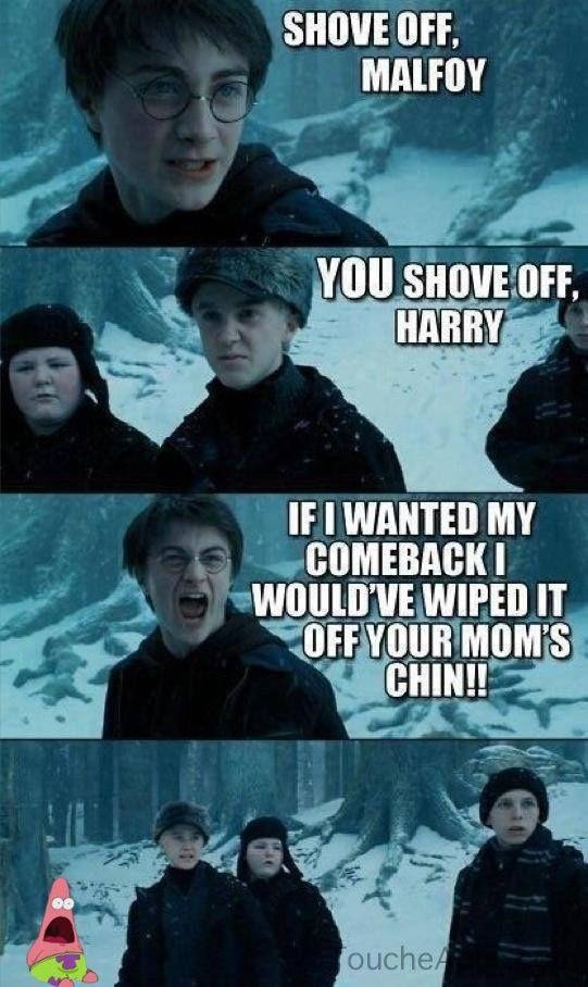 Harry Potter Draco Malfoy Patrick Star Harry Potter Jokes Harry Potter Memes Hilarious Harry Potter Vs Twilight