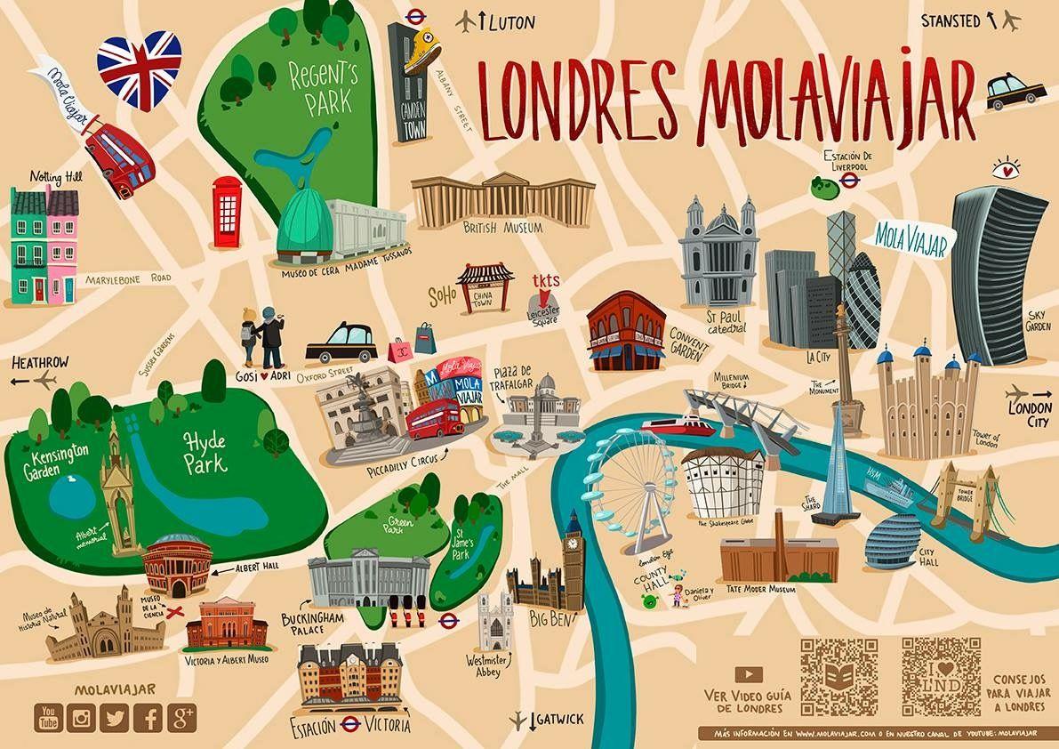 Mapa De Londres Viajero Mola Viajar Kensington London London London City
