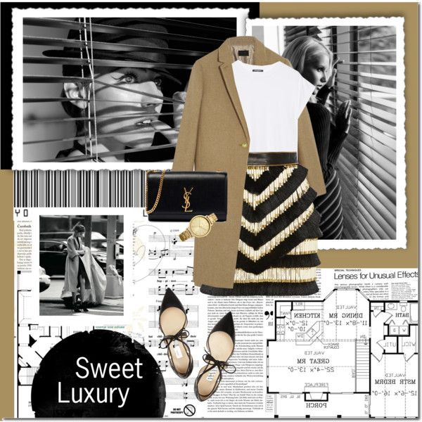 SWEET LUXURY by kwop-kilawtley on Polyvore featuring moda, J.Crew, Balmain, Jimmy Choo, Yves Saint Laurent and Oasis