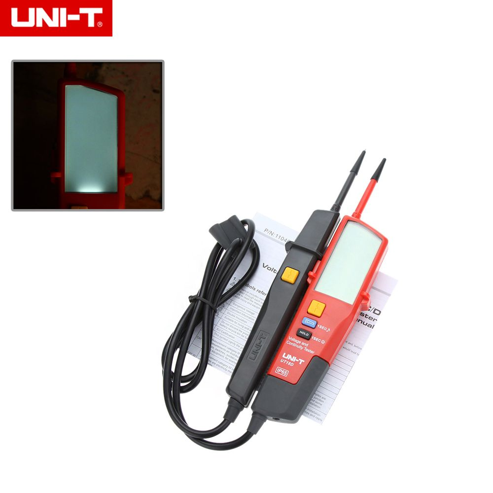 UNI-T UT18D Auto Range Voltage Meter Continuity Tester with LCD ...