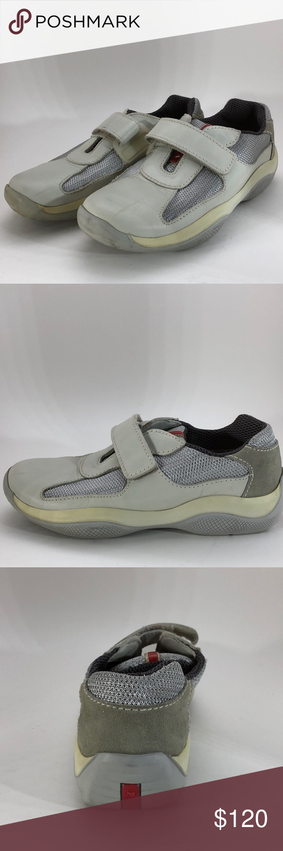 🆕Prada Nevada Bike Argento Velcro Sneakers SZ38.5 Guaranteed Authentic  Condition  Worn once maybe twice   No visible scratches or wear Prada Womens  Nevada ... ff1984dd7c