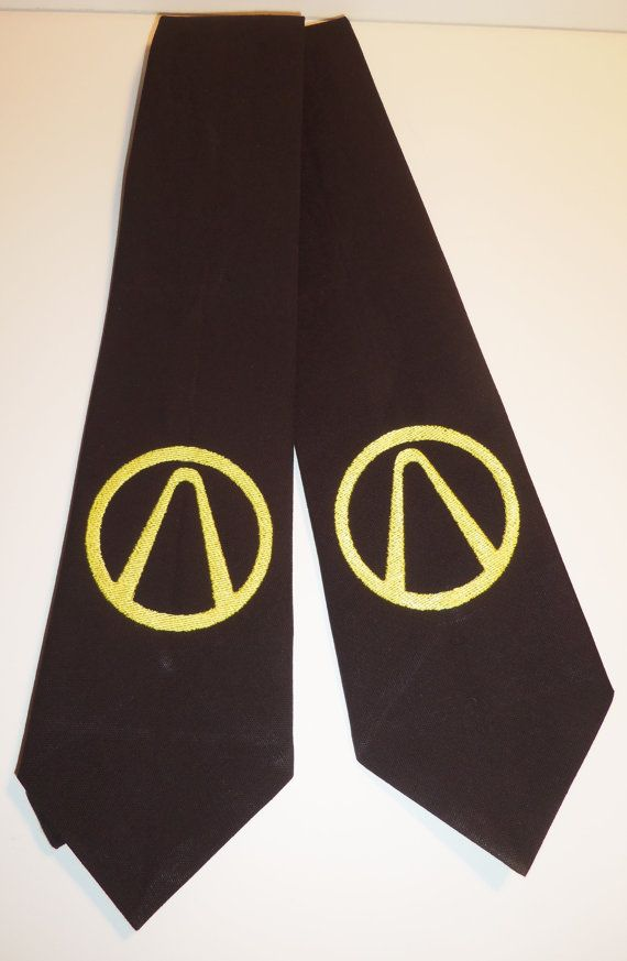 Borderlands Inspired Adult Neck Tie In Black and by