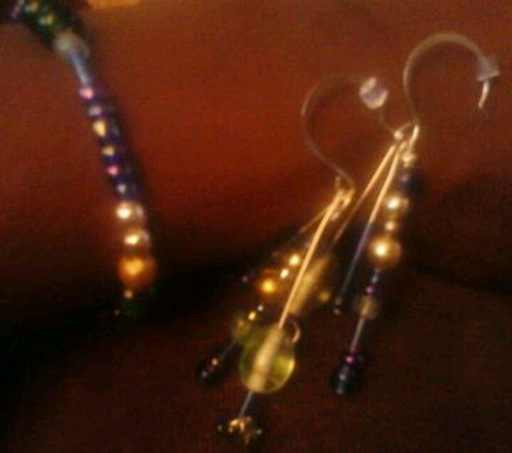 Bracelet and earrings by Tasha Day Thirteen by Tasha Zeigenfus