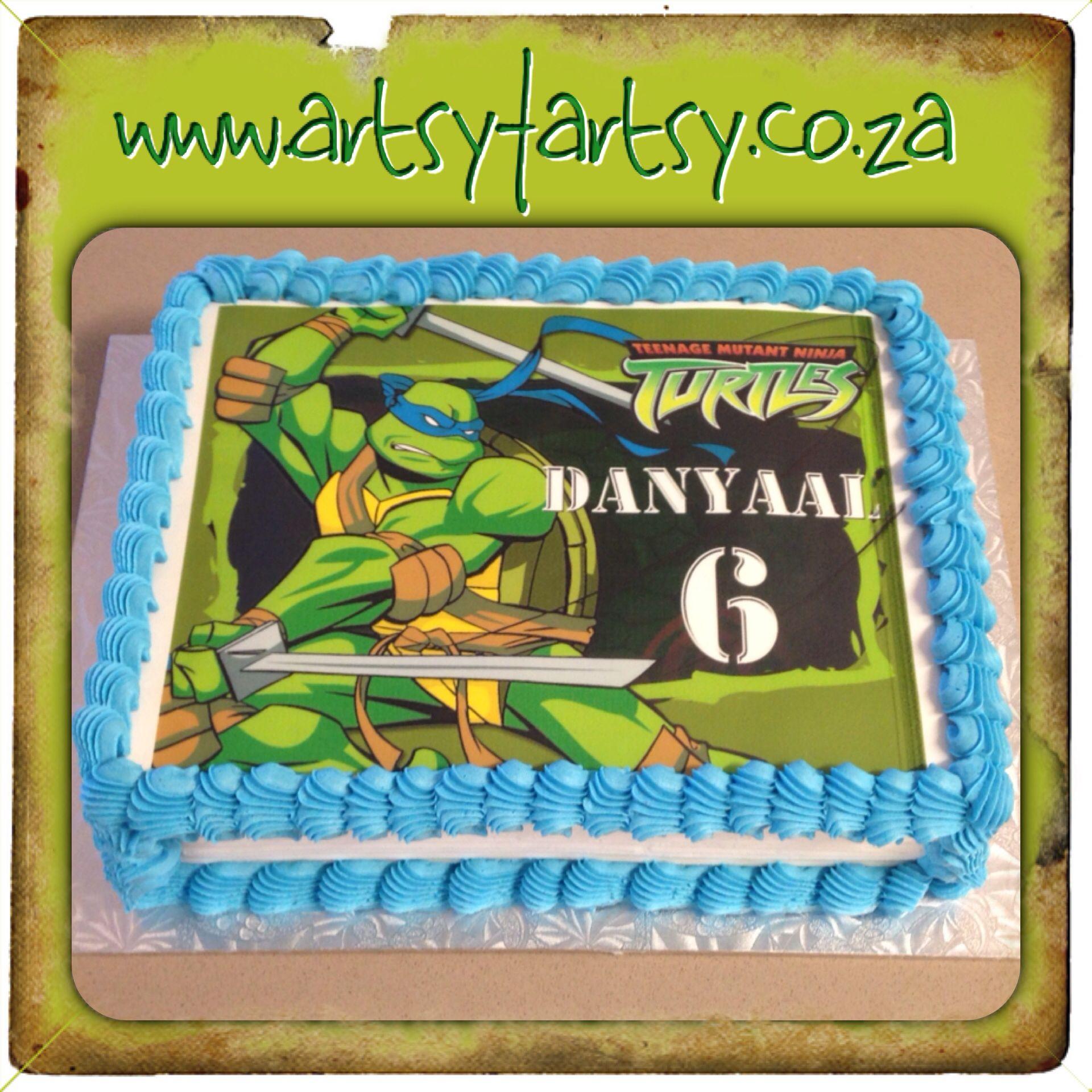 Pin By Mareli Erasmus On Teenage Mutant Ninja Turtle Cakes And Cupcakes Edible Picture Cake Superhero Birthday Cake Monster High Cakes