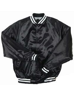 Pro-Satin Quilt Lined Baseball Jacket - Adult Mens (Morgan's ...