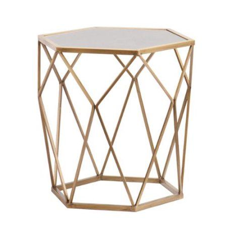 Home Gold Accent Table Gold End Table End Tables