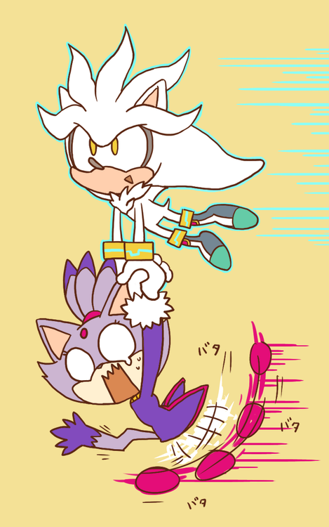 Imagine sonic shadow and silver in a threesome