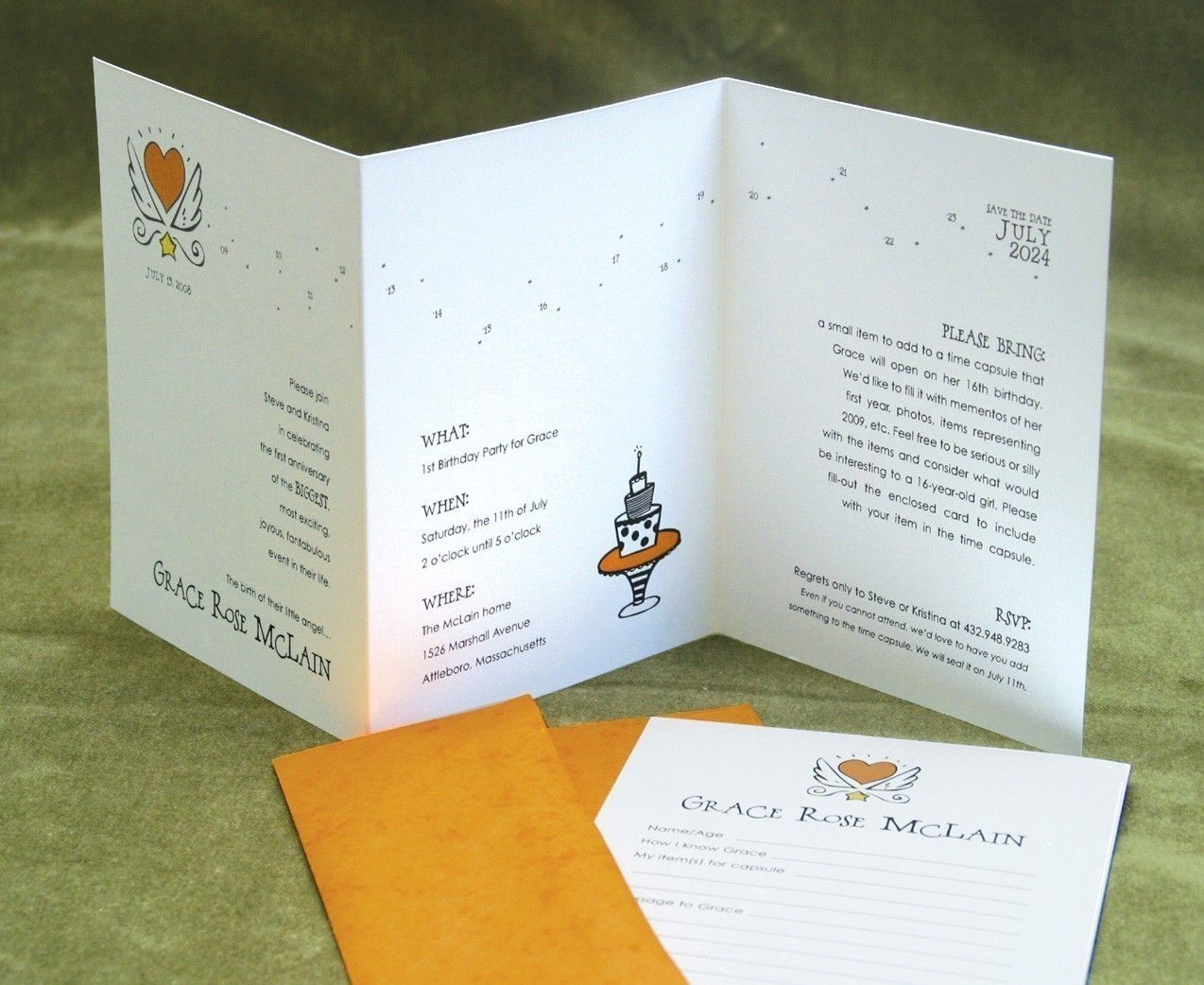 Time Capsule Birthday Party Kit - 14 Invitations, Envelopes and ...