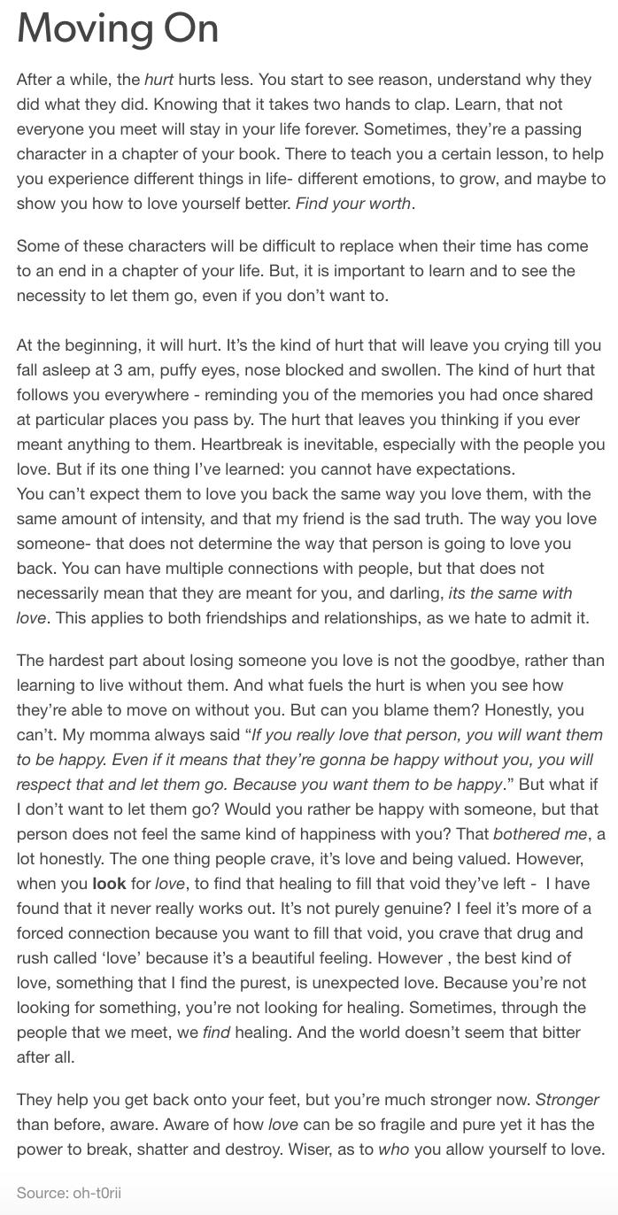 moving on (follow my ig/tumblr for more writings)