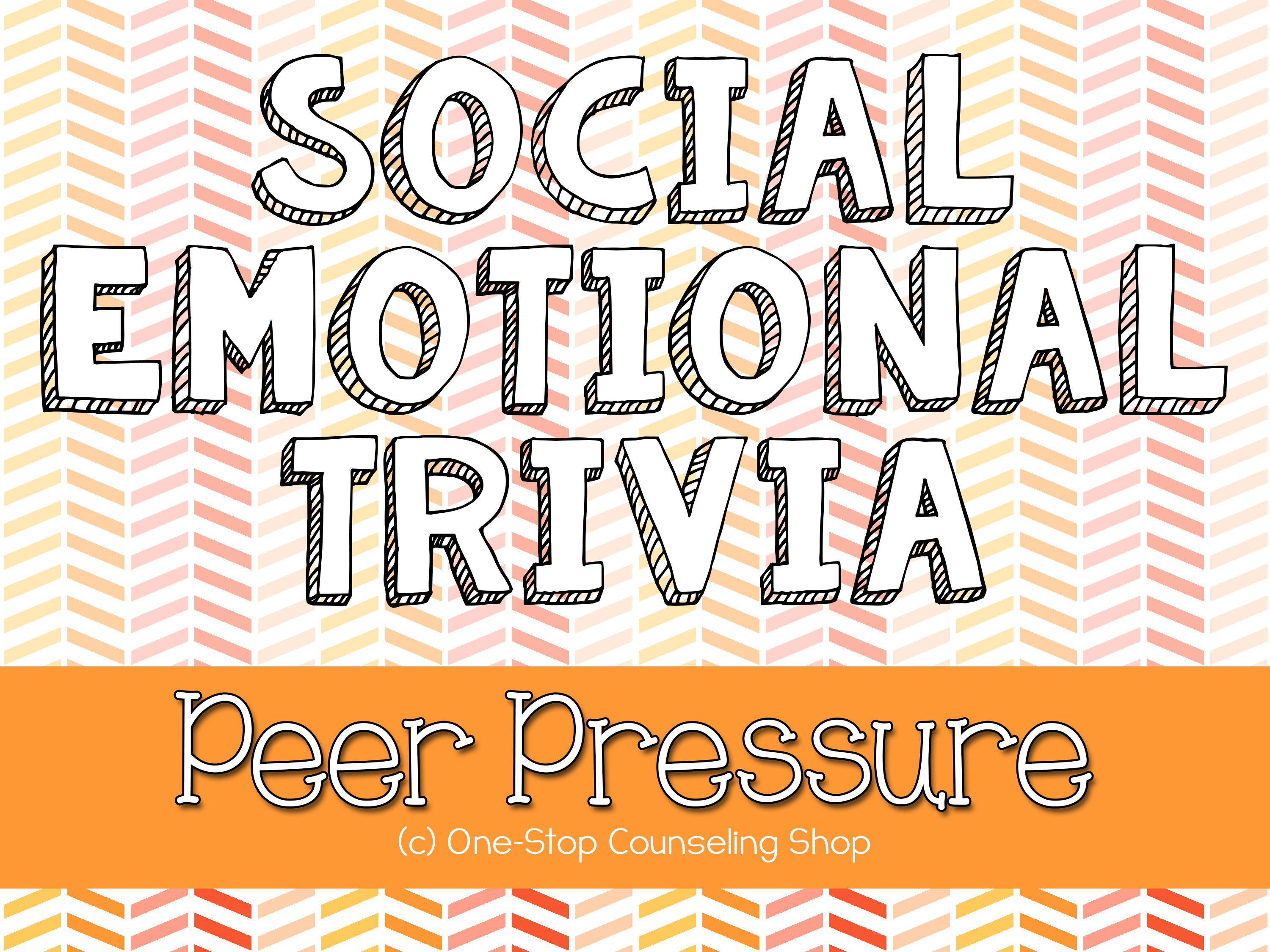 Interactive Peer Pressure Trivia Game! Substance Abuse