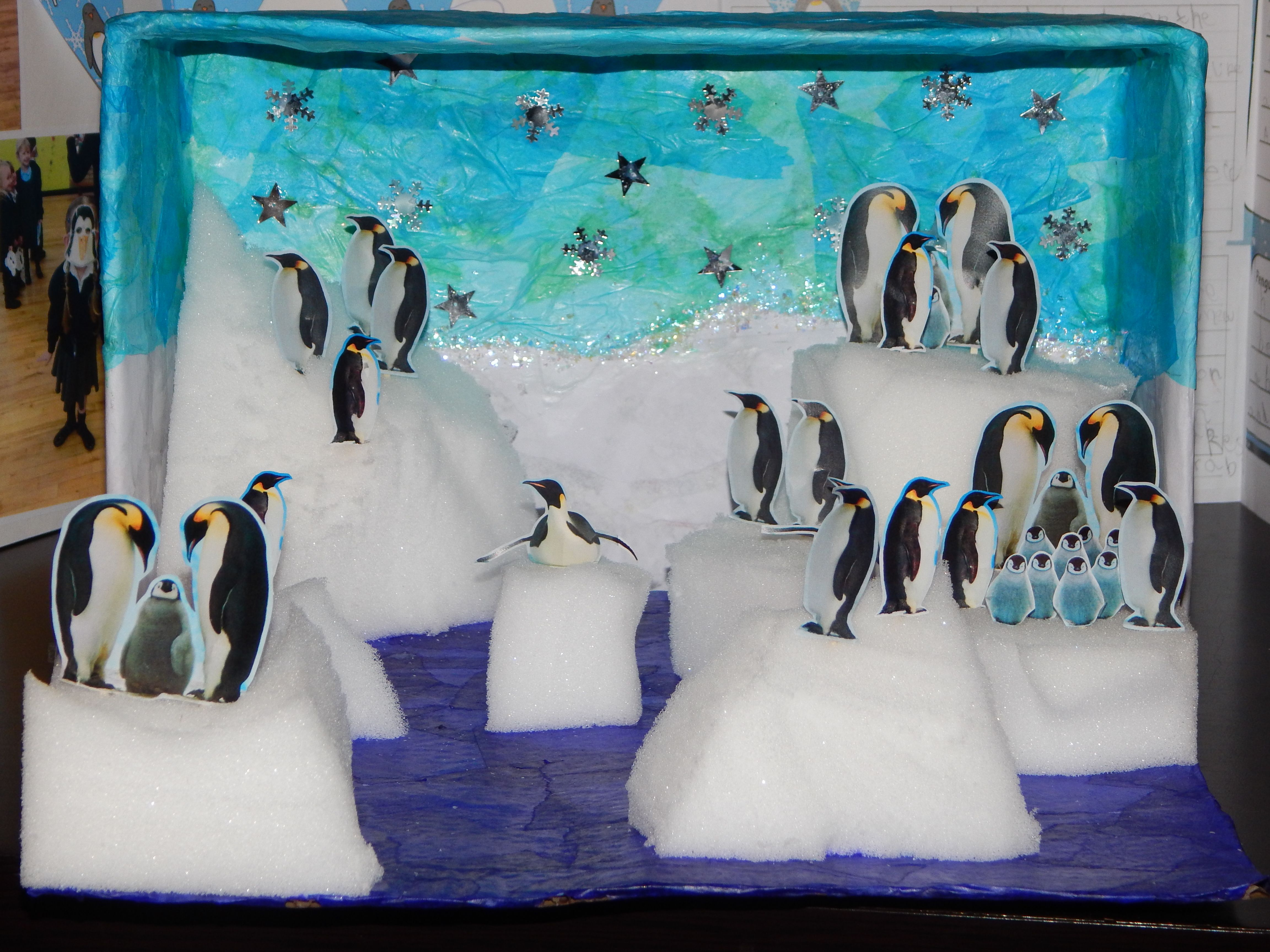 Penguin habitat diorama images for Penguin project