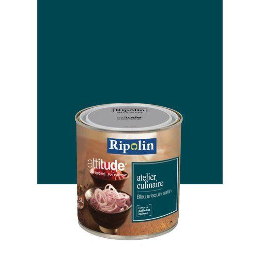 peinture multisupports attitude atelier culinaire ripolin bleu arlequin 0 5 l id es d co. Black Bedroom Furniture Sets. Home Design Ideas