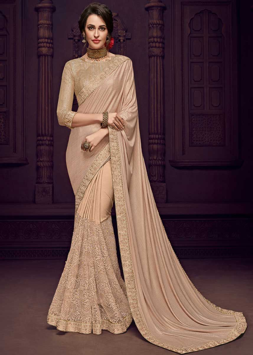 0bd84a6a8de414 Stunning Beige Color Designer Imported fabrics Saree Buy this Stunning  Beige Color Designer Imported fabrics Saree