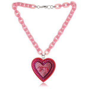"TARINA TARANTINO ""Classic"" Cherry Large Heart Pendant With Lucite Bow"