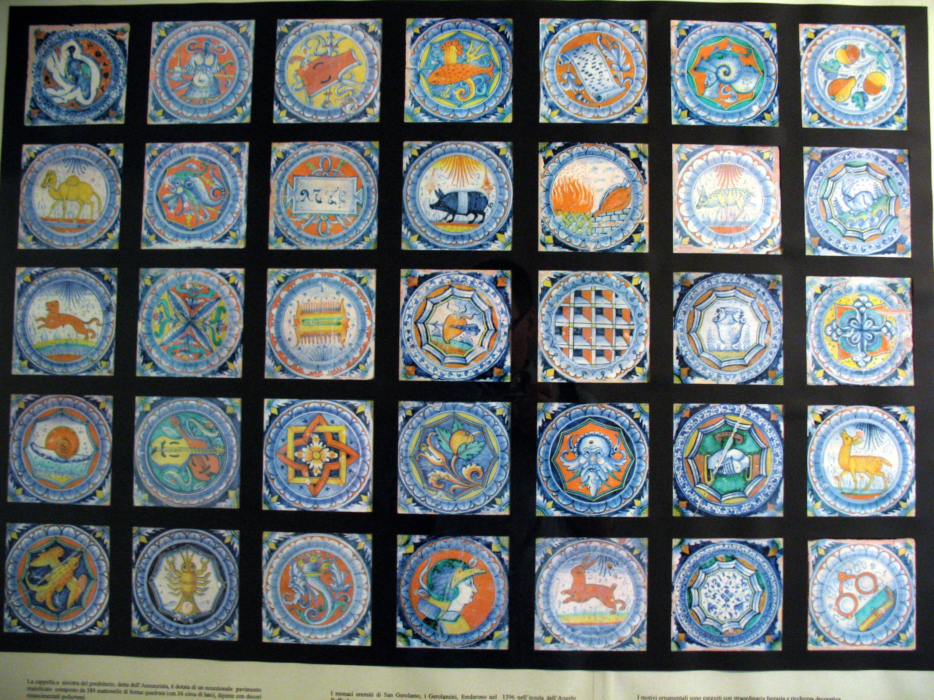 Piastrelle decorate siciliane collezione blu cobalto pavimenti e
