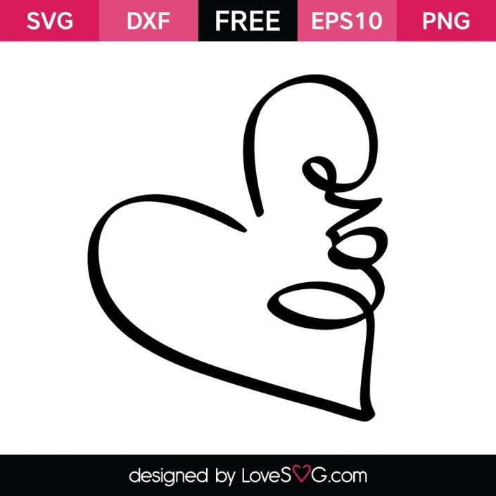Love in a Heart | SVG Cut Files for Silhouette and Cricut