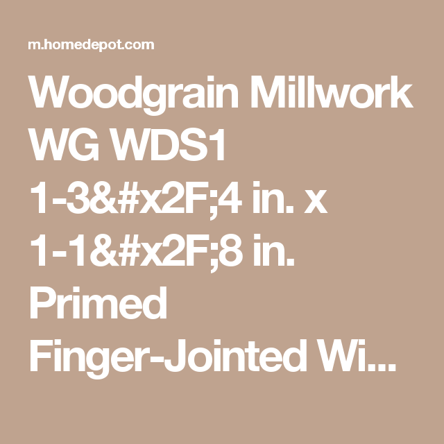 Woodgrain Millwork Wg Wds1 1 3 X2f 4 In X 1 1 X2f 8 In Primed Finger Jointed Window Sill Nosing Moulding 10000658 At The Home Depot Window Sill Wood Grain