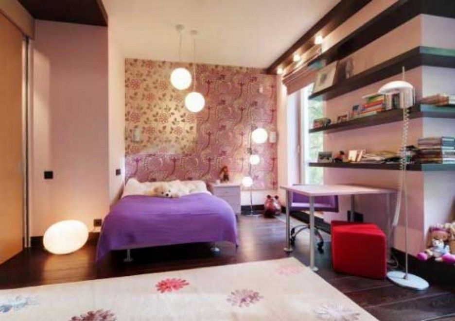 comfortable and wonderful bedroom design for young women with
