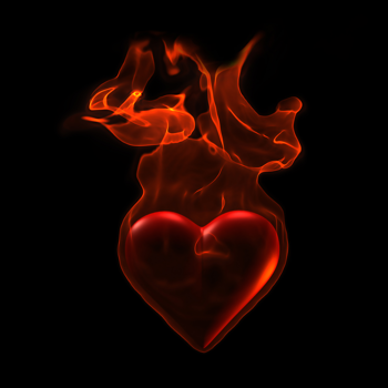 Iclipart Ardent Heart In Flame On Grunge Background Fire Heart Love Wallpaper Fire Art