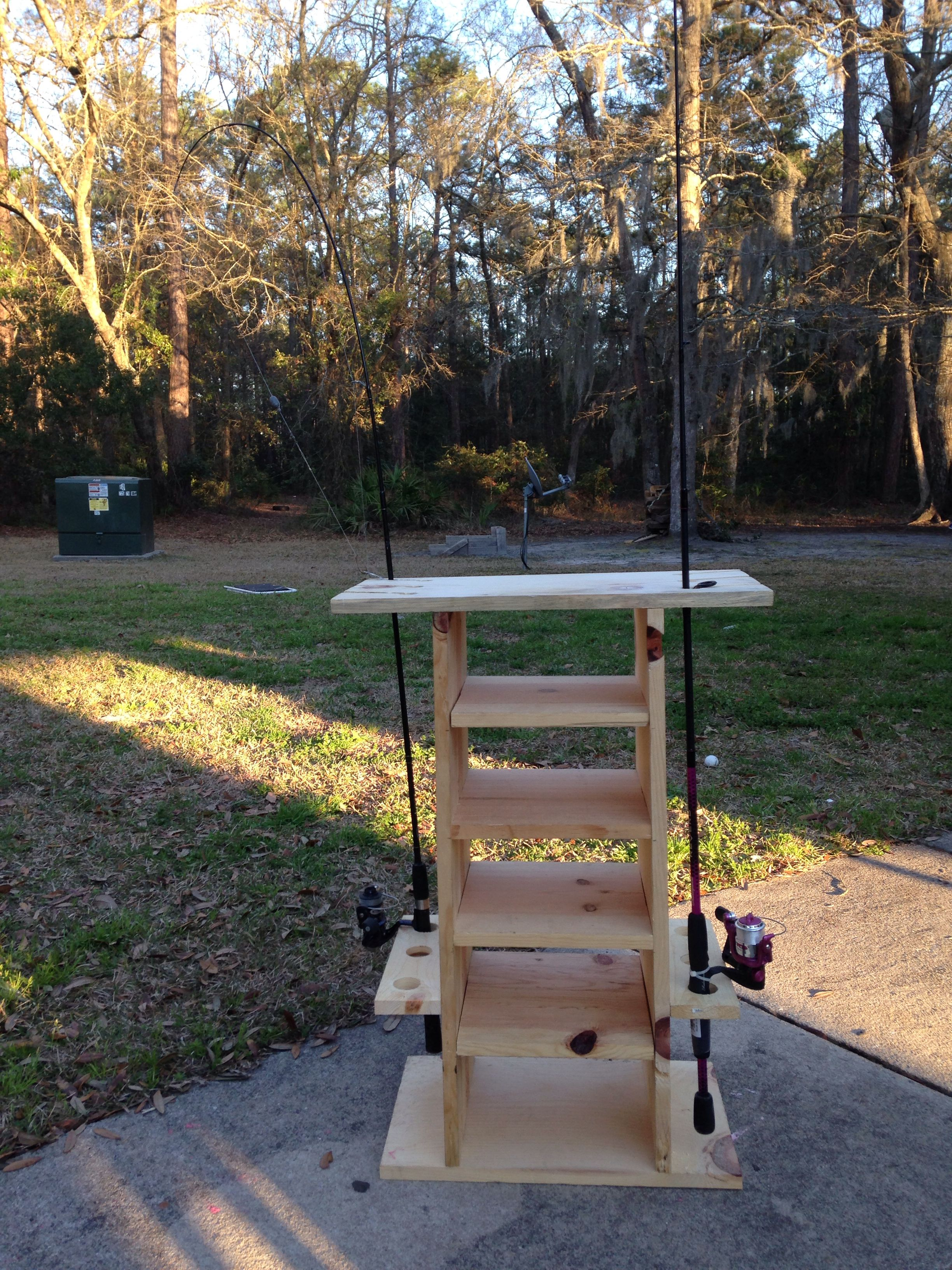 Fishing Rod Holder With Tackle What I Built Fishing