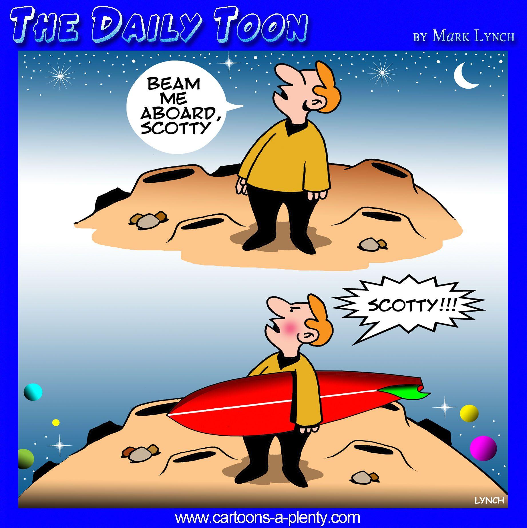 Beam Me Up Scotty Cartoon  The Daily Toon  Cartoon -4624