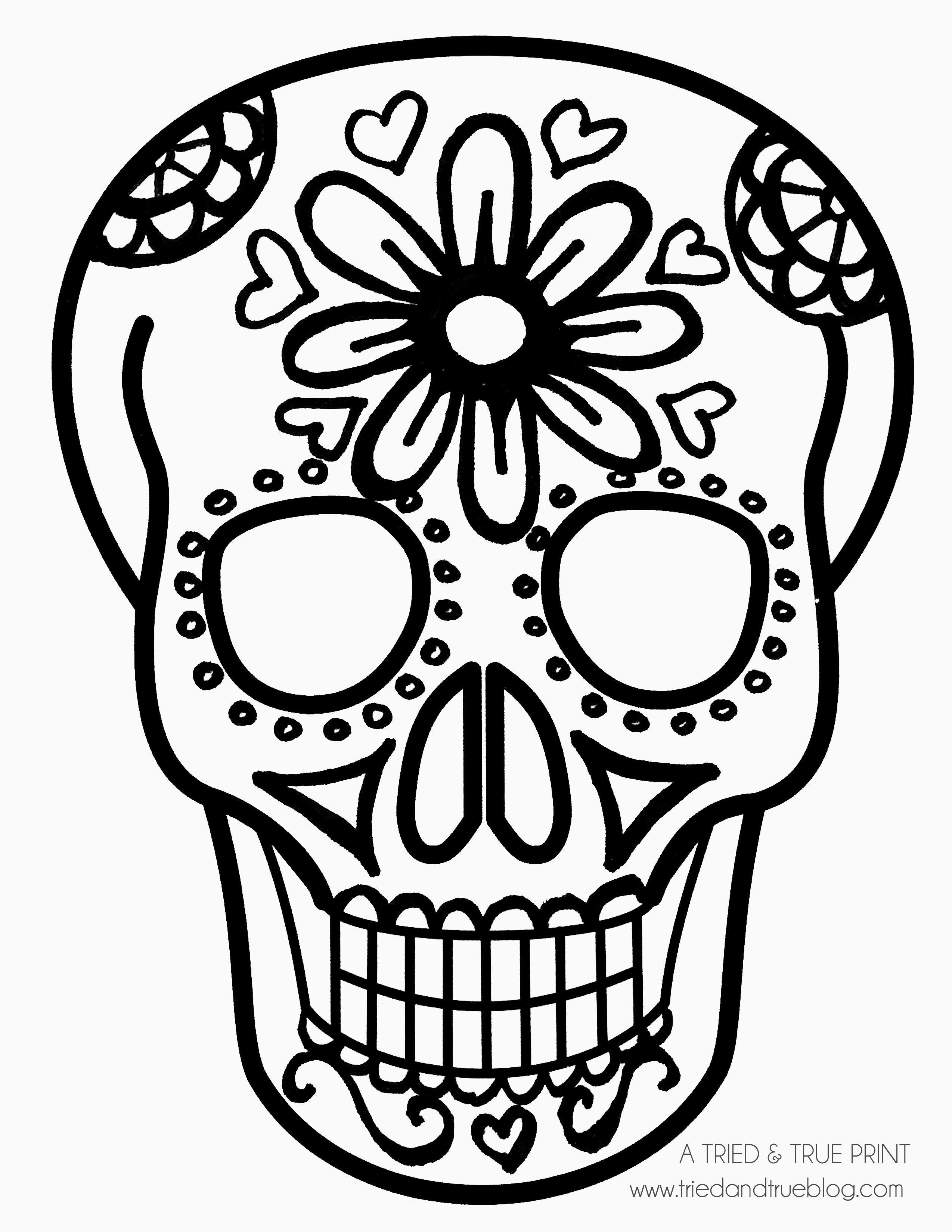 Easy Calavera Mask Daisy And Hearts