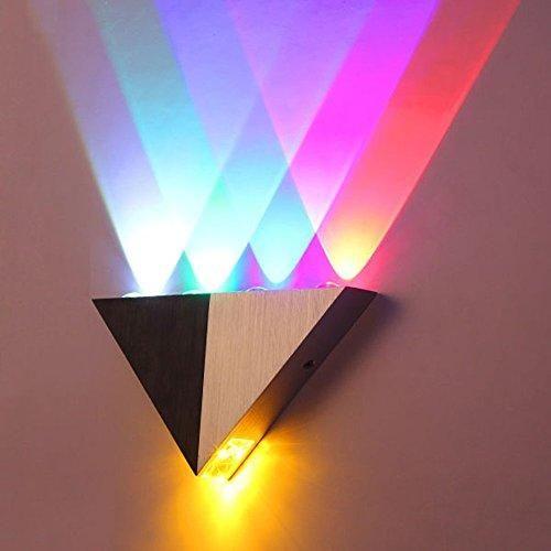 Photo of Lemonbest Modern Triangle 5W LED Wall Sconce Light Fixture Indoor Hallway Up Down Wall Lamp Spot Light Aluminum Decorative Lighting for Theater Studio Restaurant Hotel – Multicolor