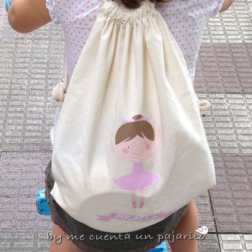 Mochila bolsa personalizada de tela 100% algodón con cuerdas f65003a9ea344